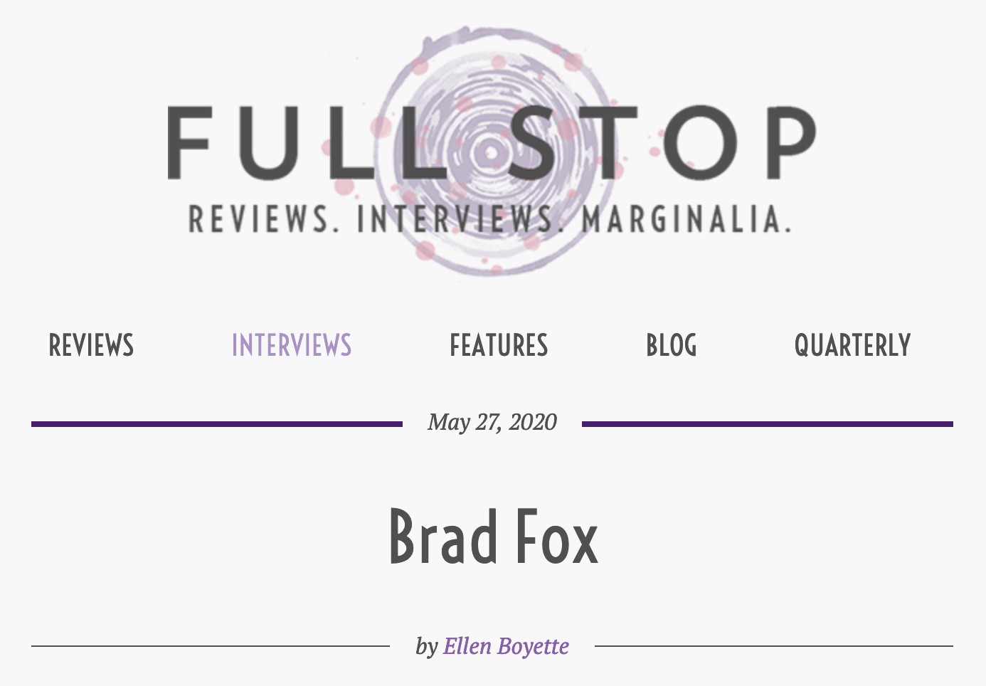 FUll Stop interview